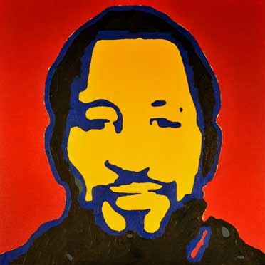 A painting of Kool Herc
