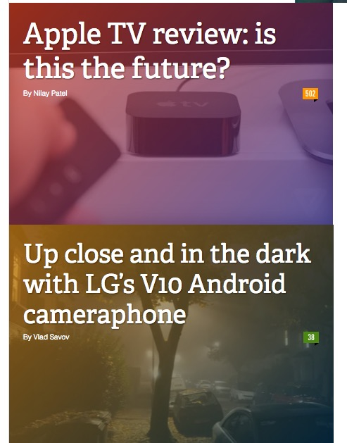 forlorn headlines from the Verge